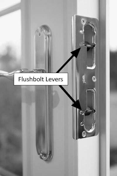 Locking And Unlocking French Patio Door With Flushbolts