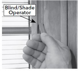 Opening And Closing Blinds Or Shades Between The Glass With A Hinged