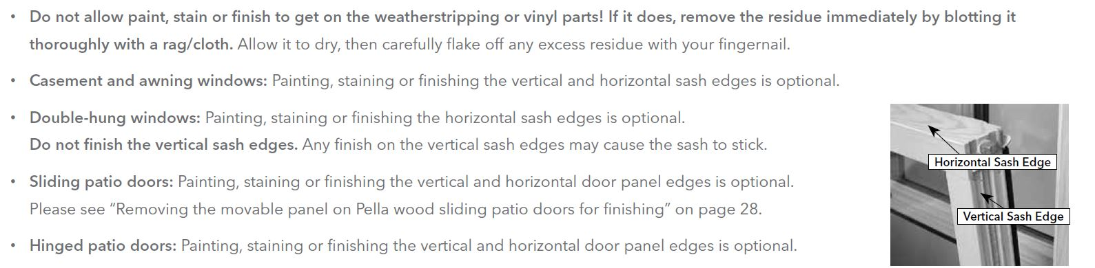 Painting or staining the interior of pella wood windows or patio doors planetlyrics Images