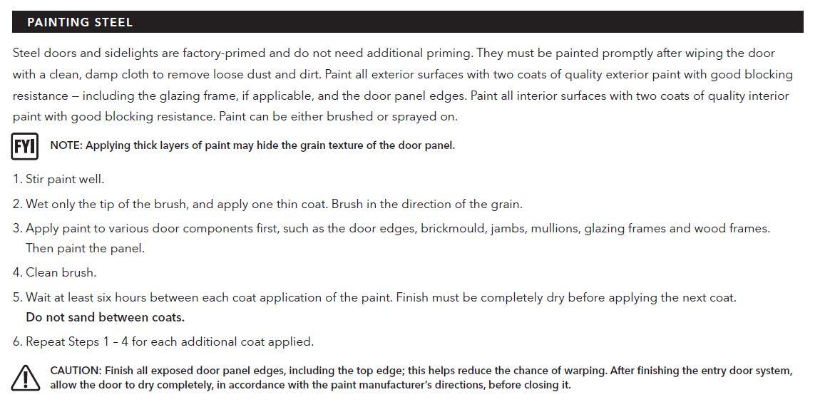 Painting A Steel Entry Door